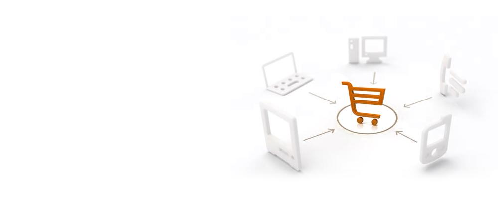 Carrinho de compras online conectado a vários dispositivos